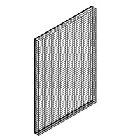 Grille, square perforation. 45x66cm